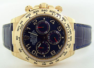 ROLEX - 18kt Yellow Gold Daytona Blue Arabic Model 116518 SANT BLANC