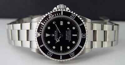 ROLEX - MENS 40mm Stainless Steel Sea-Dweller - Black Index - 16600