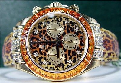 ROLEX - 18kt Gold DAYTONA Safari Leopard - Model 116598 NEVER WORN