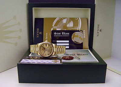 ROLEX - 18kt Gold Day-Date PRESIDENT 36mm Mens Champagne ROMAN 118238 SANT BLANC