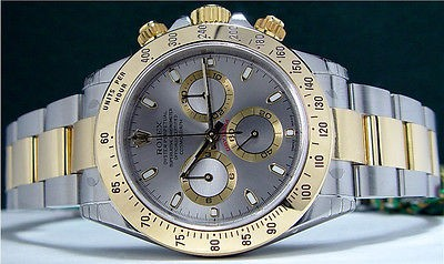 NEVER WORN Stainless & Gold ROLEX DAYTONA Stainless Dial 116523 SANT BLANC