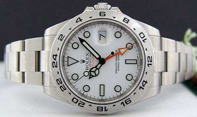 2013 ROLEX Mens 42mm Stainless Explorer II White Index Dial - 216570