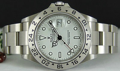 ROLEX - SS Explorer II SEL 40mm WHITE Dial Model 16570 SANT BLANC