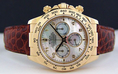 ROLEX - 40mm Daytona 18kt GOLD Mother of Pearl Arabic Dial- 116518 SANT BLANC