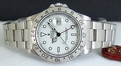 ROLEX - Stainless 40mm Explorer II White Index Dial - 16570 SANT BLANC