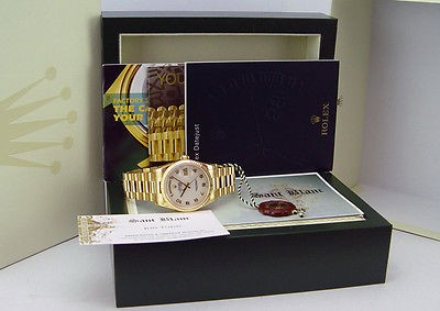 ROLEX Men's Gold Day-Date President Ivory Jubilee Arabic Dial 118238 SANT BLANC