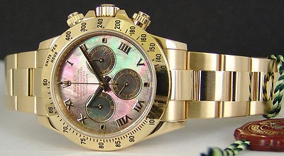 ROLEX - 18kt Gold DAYTONA Mother Of Pearl Model 116528 SANT BLANC
