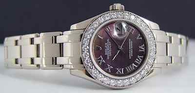 ROLEX White Gold Lady Tahitian Pearl MASTERPIECE 80299 SANT BLANC