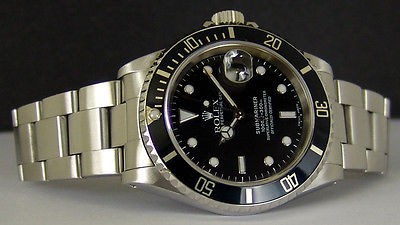 ROLEX - 40mm Stainless Steel SUBMARINER Black Dial - 16610 SANT BLANC
