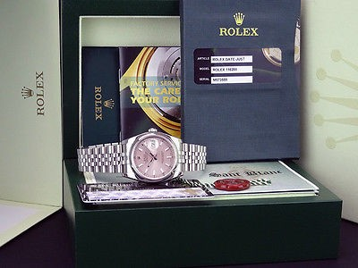 ROLEX - DateJust Mens Stainless Steel Rose Index Dial - 116200 SANT BLANC