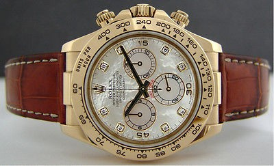ROLEX - Gold DAYTONA Diamond Mother of Pearl - 116518  SANT BLANC