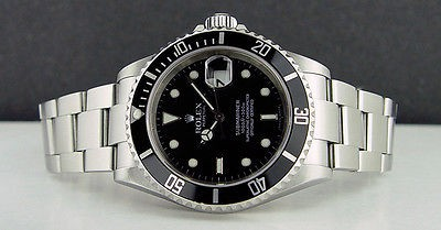 ROLEX - 40mm Mens Stainless Steel - SUBMARINER Black Dial - 16610 SANT BLANC