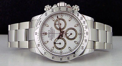 ROLEX - Men's Stainless Steel 40mm DAYTONA White Index Dial 116520 - SANT BLANC