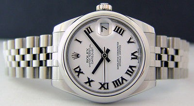 ROLEX - Mid-Size Stainless Steel 31mm Datejust White Roman - 178240 SANT BLANC