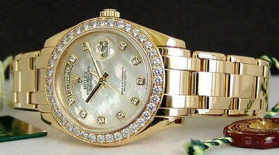 ROLEX - Men's 18kt Gold MOP DIAMOND MASTERPIECE 18948