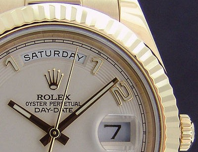 ROLEX - 18kt Gold President Day-Date II 41mm Ivory Arabic Dial - 218238