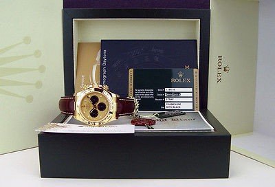 ROLEX - 18kt Gold DAYTONA Champagne Paul Newman On The Strap 116518 - SANT BLANC