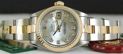 ROLEX - Ladies Gold & Stainless Steel 26mm Datejust MOP Diamond 69173 SANT BLANC