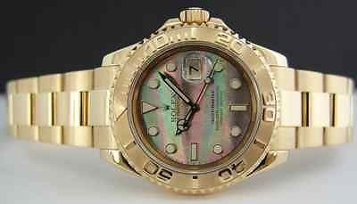ROLEX - 18kt Gold Men's YachtMaster Tahitian Mother of Pearl 16628 SANT BLANC