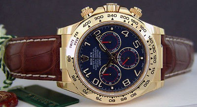 ROLEX - 40mm Mens 18kt Gold Daytona Blue Arabic Dial- 116518 - SANT BLANC
