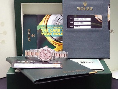 ROLEX - Ladies 18kt Rose Gold & Stainless DateJust Rose Roman 179161 SANT BLANC