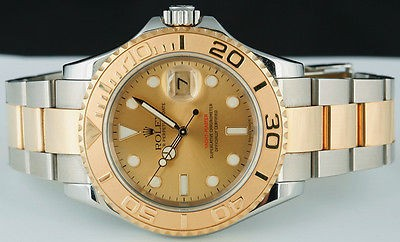 ROLEX Men's 18kt & SS Gold Dial YachtMaster 16623 SANT BLANC