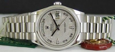ROLEX 36mm Mens Day-Date PLATINUM President Meteorite Diamond 118206