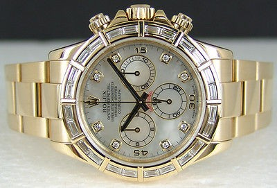 ROLEX - 18kt Gold Mens 40mm DIAMOND Daytona - Pearl Diamond - 116568
