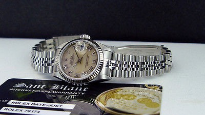ROLEX - Ladies 18kt White Gold & SS DateJust Pink MOP Dial - 79174 SANT BLANC