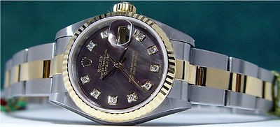 ROLEX Lady Mother Of Pearl Diamond DateJust 79173
