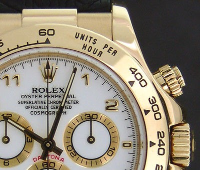 ROLEX - 40mm Daytona 18kt YELLOW GOLD - White Arabic Dial - 116518 SANT BLANC