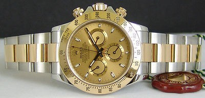 ROLEX - 18kt Gold & Stainless 40mm DAYTONA Champagne Dial - 116523 SANT BLANC