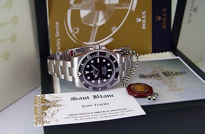 NEVER WORN 2013 ROLEX Stainless Steel SUBMARINER New Style 114060 SANT BLANC