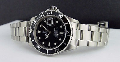 ROLEX - 40mm Stainless Steel - SUBMARINER Black Dial - 16610 SANT BLANC