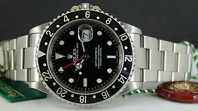 """ROLEX - Stainless GMT Master II SEL """"No Holes"""" - 16710 SANT BLANC"""