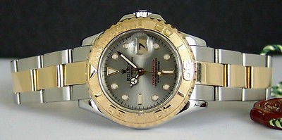 ROLEX - Ladies 18kt Gold & Stainless Yacht-Master Grey Dial - 169623