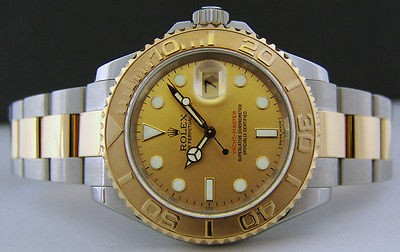 ROLEX - Men's 40mm Gold & SS YachtMaster Champagne Index Dial - 16623 SANT BLANC