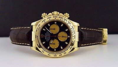 ROLEX - 18kt Yellow Gold 40mm DAYTONA Black Paul Newman Dial - 116518 SANT BLANC