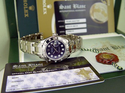 ROLEX - 18kt White Gold MASTERPIECE Blue/Purple Diamond Dial - 80319