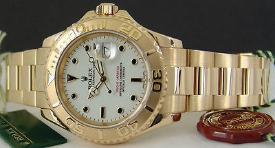 ROLEX - 18kt Gold YachtMaster 40mm WHITE Model 16628 SANT BLANC