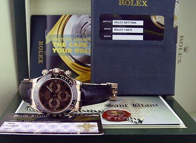 ROLEX - 2013 18kt Ever Rose Gold Daytona Chocolate Arabic 116515 - SANT BLANC