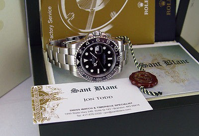 ROLEX - Stainless Steel GMT Master II CERAMIC 116710 - SANT BLANC