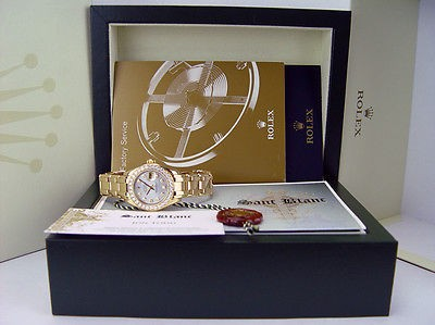 ROLEX - Ladies 18kt Gold PearlMaster MASTERPIECE Pearl Diamond - SANT BLANC