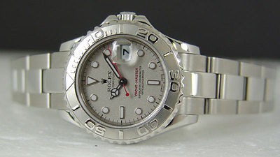 ROLEX - Ladies 29mm Platinum & Stainless Steel Yacht-master Platinum Index 169622