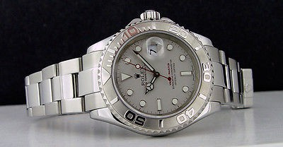 ROLEX - 40mm Platinum & Stainless YachtMaster Platinum Dial 16622 SANT BLANC
