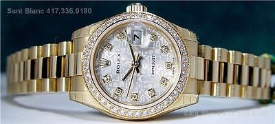 Ladies ROLEX Full DIAMOND President Never Worn 179138