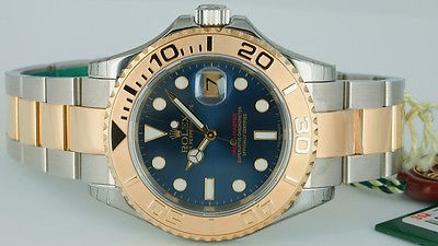 Rolex - Men's 18kt & Stainless Steel YachtMaster Blue Dial - 16623 SANT BLANC