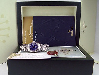 ROLEX - Stainless Steel Ladies DateJust Blue ROMAN Dial - Model 79240 SANT BLANC