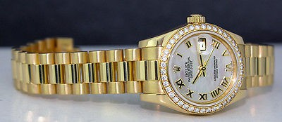 ROLEX 18kt Gold Ladies President Mother Of Pearl Roman 179138 SANT BLANC