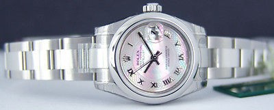 ROLEX - Lady Stainless Steel Pink Decorated Mother of Pearl DateJust - 179160